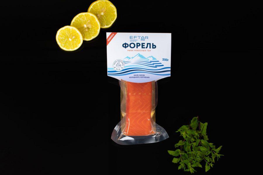 Филе форели слабосоленое - 200 гр в вакуумной упаковке