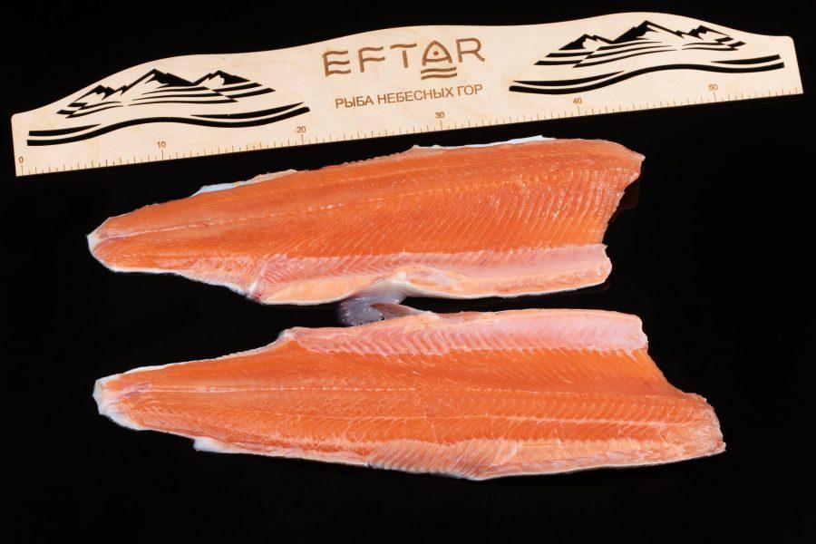 Филе форели свежемороженое ( TRIM B, E ) — из рыбы 1+ кг