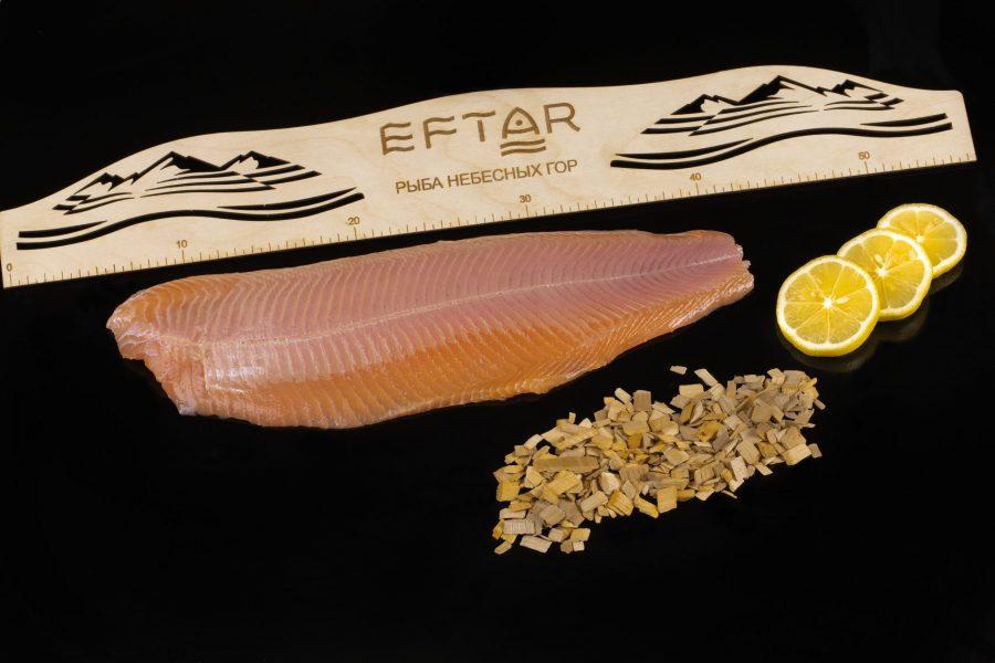 Форель филе копченая ( TRIM B, E ) — из рыбы 1+ кг
