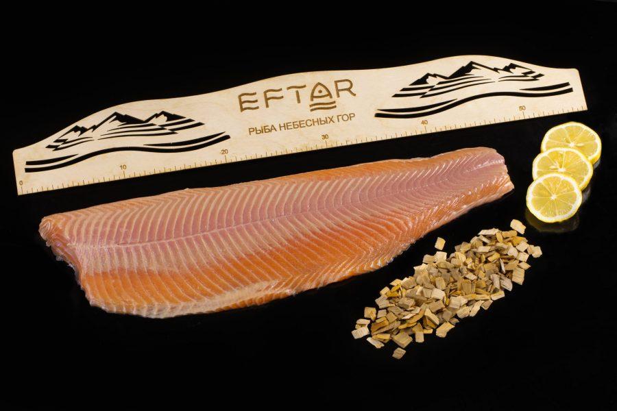 Форель филе копченая ( TRIM B, E ) — из рыбы 3+ кг