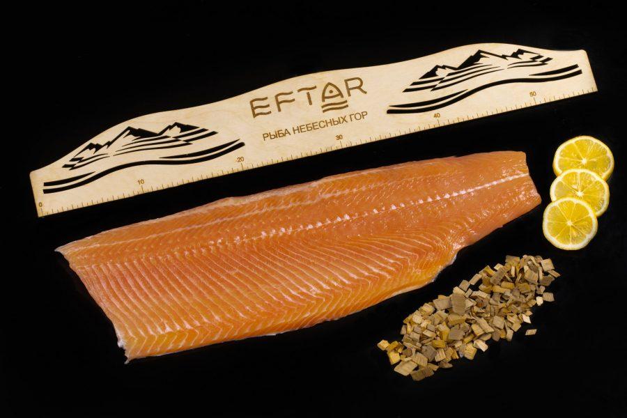 Форель филе копченая ( TRIM B, E ) — из рыбы 4+ кг