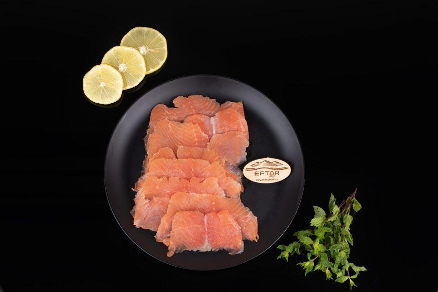 Форель филе - нарезка слабосоленая — 150 г.