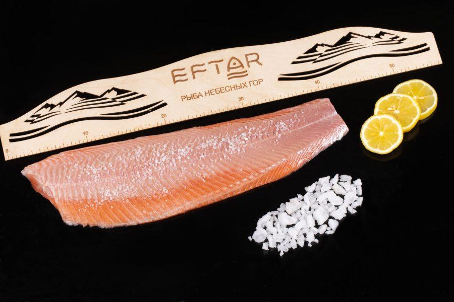 Форель филе малосоленое ( TRIM B, E ) — из рыбы 2+ кг