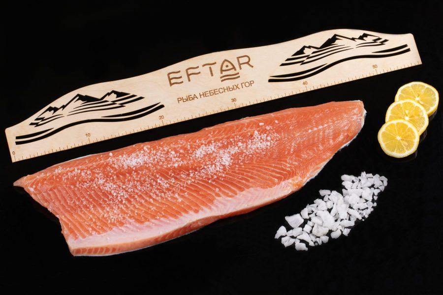 Форель филе малосоленое ( TRIM B, E ) — из рыбы 3+ кг