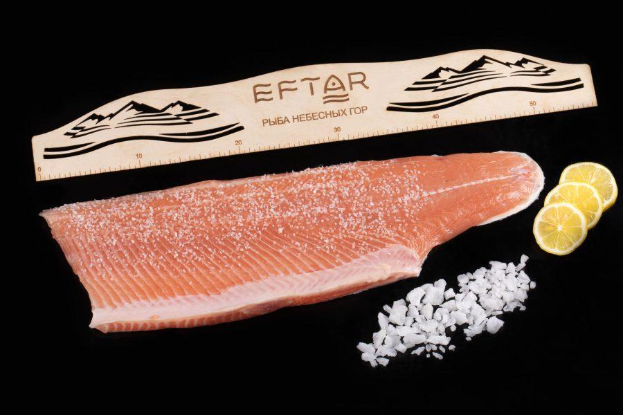 Форель филе малосоленое ( TRIM B, E ) — из рыбы 4+ кг
