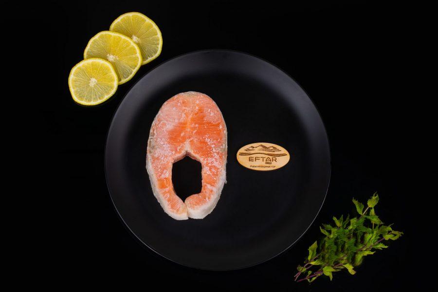 Форель стейки свежемороженые из рыбы 5+ кг