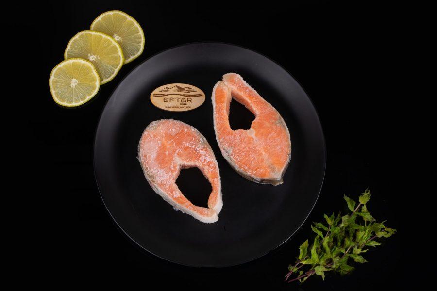 Форель стейки свежемороженые из рыбы 2+ кг